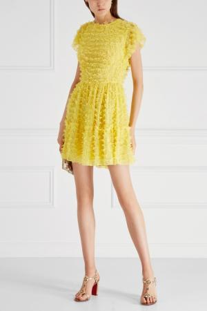 Платье с бисером Alexander Terekhov. Цвет: желтый
