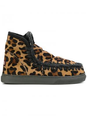 Леопардовые ботинки Mini Eskimo Mou. Цвет: многоцветный