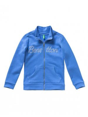 Толстовка United Colors of Benetton. Цвет: темно-синий, синий, голубой