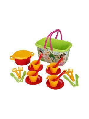 Набор игрушечной посуды Чудо-детки Альтернатива. Цвет: салатовый, красный, желтый