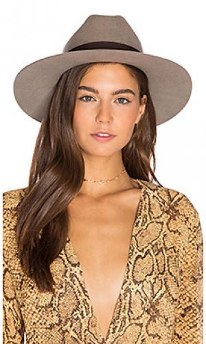 Шляпа tara Brixton. Цвет: коричневый
