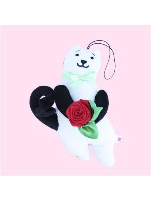 Мягкая игрушка Кот Презент 9.270.3 цвет черно-белый Malvina. Цвет: белый, черный