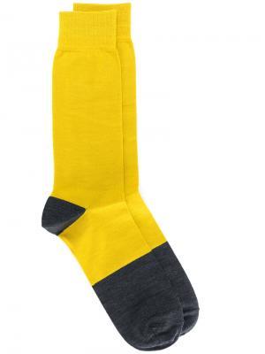 Носки дизайна колор-блок Marni. Цвет: жёлтый и оранжевый