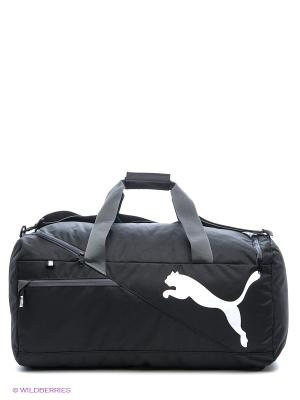 Сумка Fundamentals Sports Bag M Puma. Цвет: черный