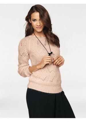 Пуловер PATRIZIA DINI. Цвет: серо-коричневый, экрю