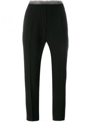 Укороченные брюки Brunello Cucinelli. Цвет: чёрный