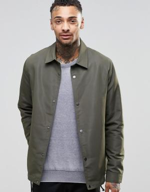 ASOS Спортивная куртка цвета хаки. Цвет: зеленый