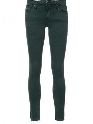 Укороченные джинсы кроя скинни Ag Jeans. Цвет: зелёный