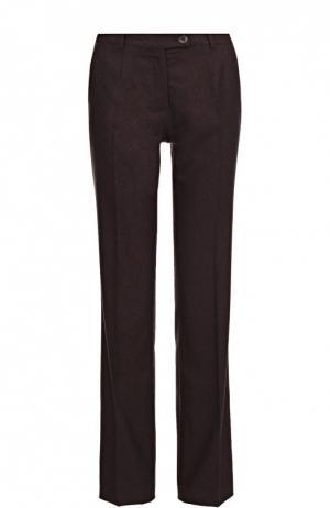 Шерстяные брюки прямого кроя со стрелками Colombo. Цвет: бордовый