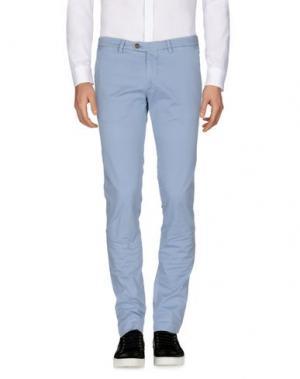 Повседневные брюки B SETTECENTO. Цвет: небесно-голубой