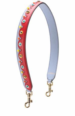 Кожаный ремень для сумки с аппликациями Dolce & Gabbana. Цвет: светло-голубой