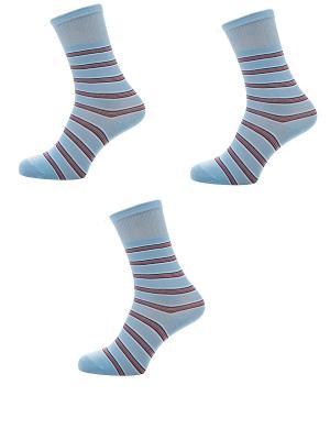 Носки Мужские,комплект 3шт Malerba. Цвет: голубой