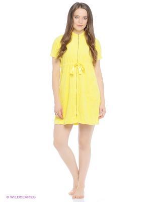 Халаты Lelio. Цвет: желтый