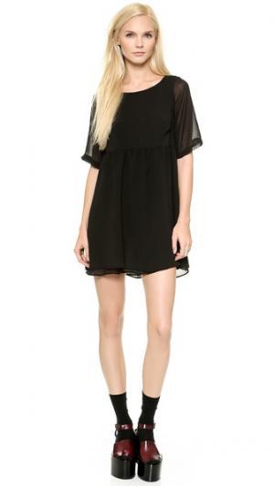 Платье Callie Elkin. Цвет: черный шифон