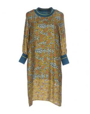 Короткое платье GAZEL. Цвет: цвет морской волны
