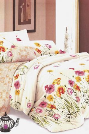 Постельное бельё 2 сп 70x70 BegAl. Цвет: бежевый, розовый, зеленый