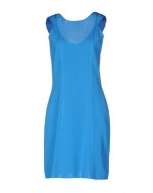 Короткое платье NEERA. Цвет: лазурный