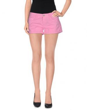 Повседневные шорты CLARK JEANS. Цвет: светло-фиолетовый