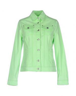 Джинсовая верхняя одежда MANUEL LUCIANO. Цвет: светло-зеленый