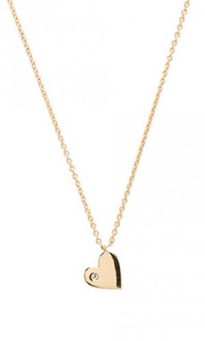 Ожерелье heart Sachi. Цвет: металлический золотой