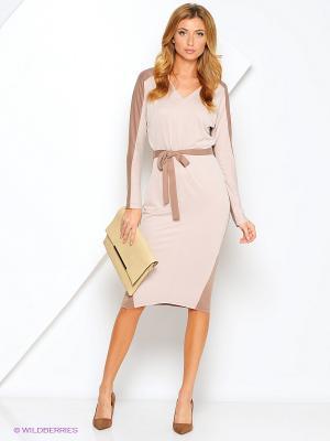 Платье Xarizmas. Цвет: бежевый, коричневый