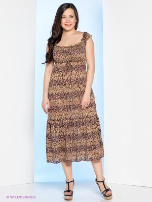 Сарафан Milana Style. Цвет: коричневый, бежевый