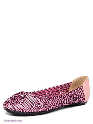 Балетки EVITA. Цвет: розовый