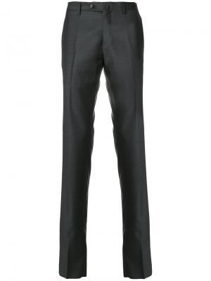 Прямые брюки Caruso. Цвет: серый