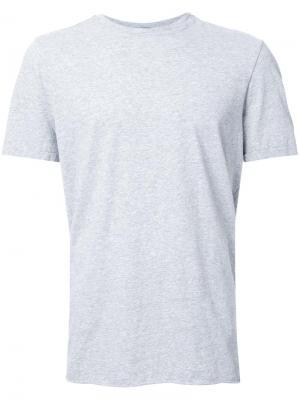 Классическая футболка с круглым вырезом Bassike. Цвет: серый