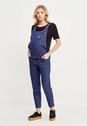 Комбинезон джинсовый MammySize. Цвет: синий
