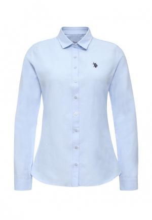 Рубашка U.S. Polo Assn.. Цвет: голубой