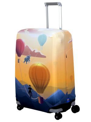 Чехол для чемодан  Bristol II M/L Coverway. Цвет: синий