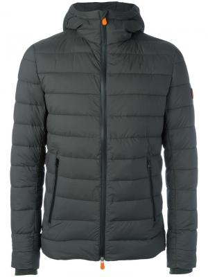 Hooded padded jacket Save The Duck. Цвет: зелёный