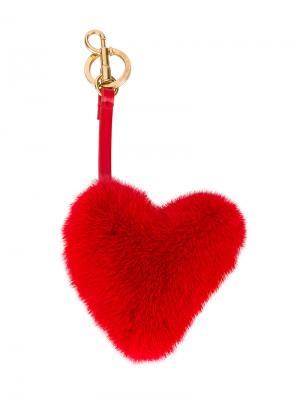 Подвеска на сумку в виде сердца Anya Hindmarch. Цвет: красный