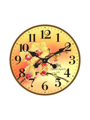 Часы настенные Михаилъ Москвинъ. Цвет: желтый
