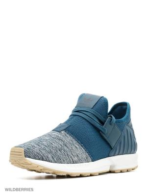 Кроссовки ZX FLUX PLUS Adidas. Цвет: бирюзовый, серый, темно-зеленый, черный