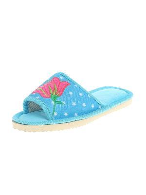 Тапочки домашние женские Migura. Цвет: голубой, розовый, желтый, белый, зеленый