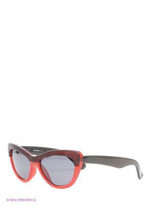 Солнцезащитные очки Mario Rossi. Цвет: темно-красный