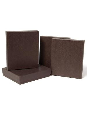 Коробка крафт, набор из 4 Шоколад VELD-CO. Цвет: темно-коричневый