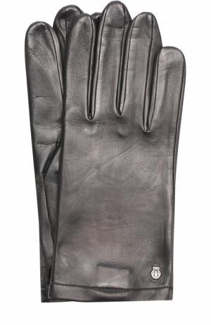 Кожаные перчатки с шелковой подкладкой Roeckl. Цвет: черный