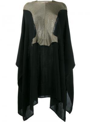 Вязаное платье-кейп с открытой спиной Esteban Cortazar. Цвет: чёрный