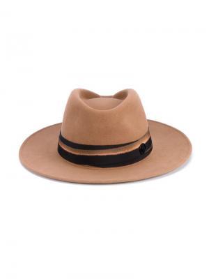 Фетровая шляпа Thadee Maison Michel. Цвет: жёлтый и оранжевый