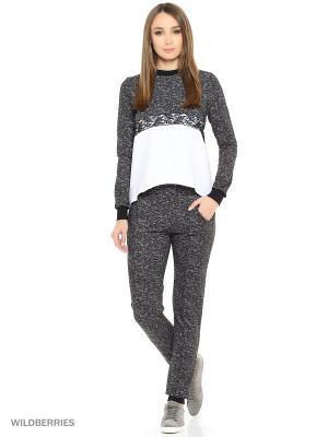 Костюм женский(джемпер, брюки) MARSOFINA. Цвет: белый, серый