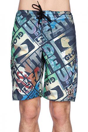 Пляжные мужские шорты  Roeder 21 Boardshort Multi Coloured Globe. Цвет: зеленый,черный