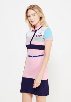 Платье Giorgio Di Mare. Цвет: разноцветный