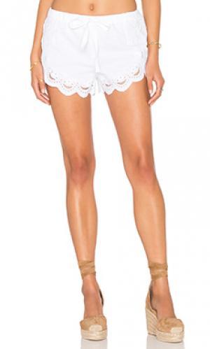 Кружевные шорты BLANKNYC. Цвет: белый