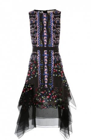 Платье с поясом Peter Pilotto. Цвет: черный