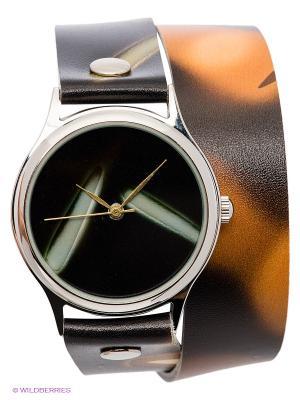 Часы DenisMart. Цвет: черный, светло-коричневый