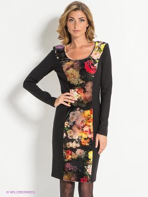 Платье Bandolera. Цвет: черный, красный, оранжевый