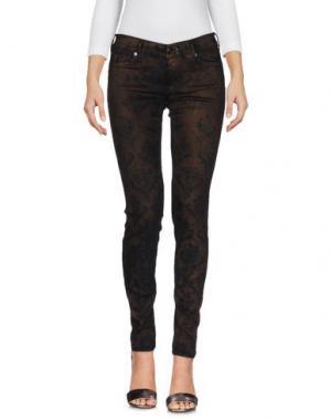 Джинсовые брюки HTC. Цвет: темно-коричневый